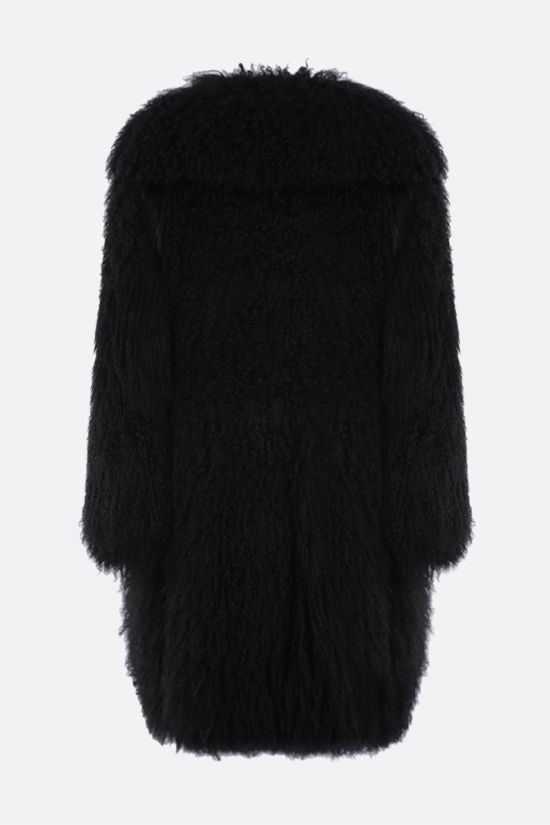 ALAIA: Tibetano lamb fur coat Color Black_2