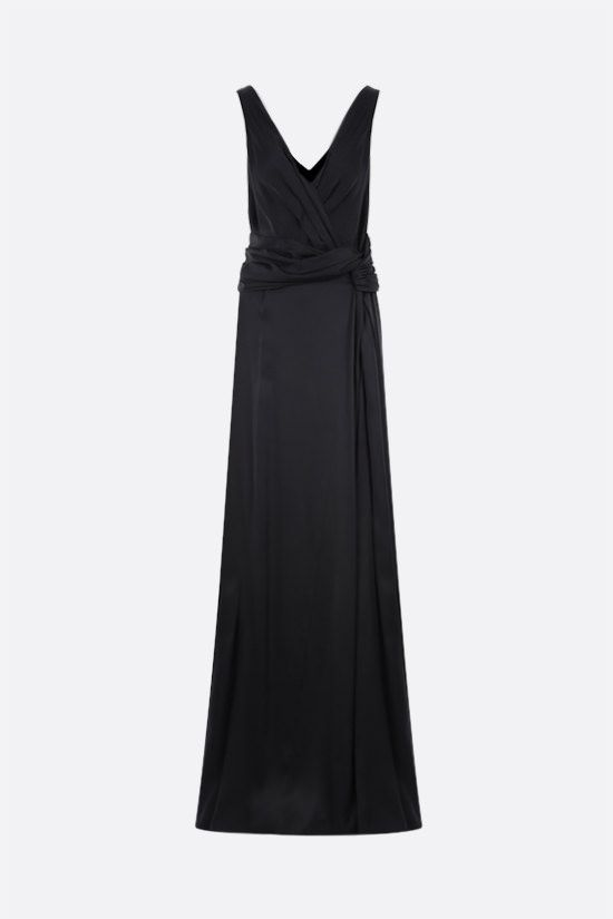 DIOR: silk satin long dress Color Black_1