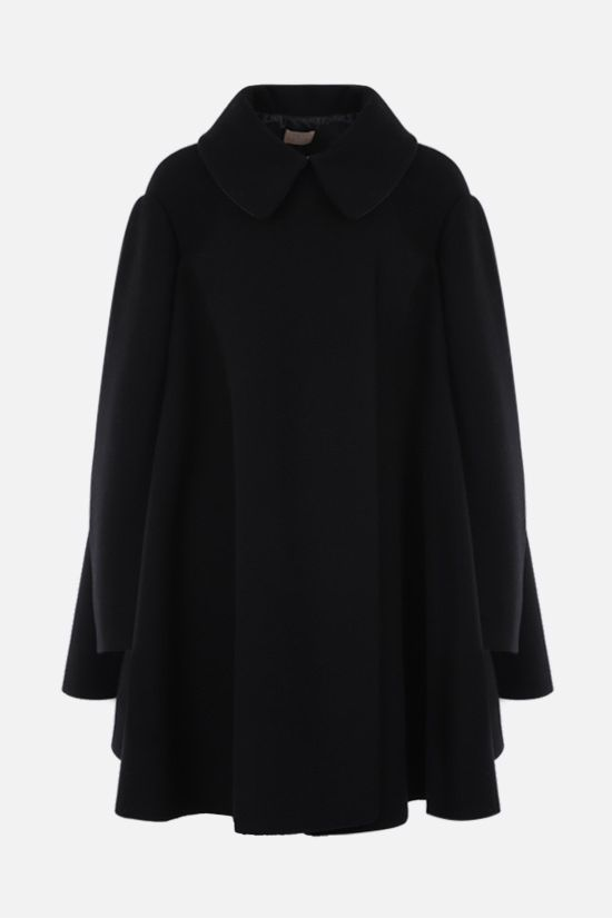 ALAIA: oversized wool cape coat Color Black_1