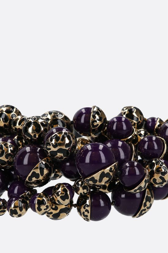 DIOR: resin pearl-embellished brass necklace Color Purple_2