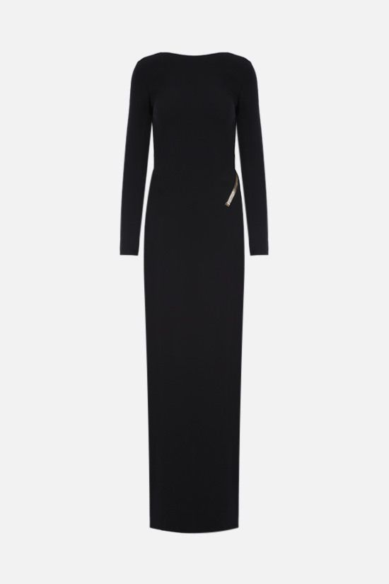 TOM FORD: oversize zip-detailed crepe evening gown Color Black_1