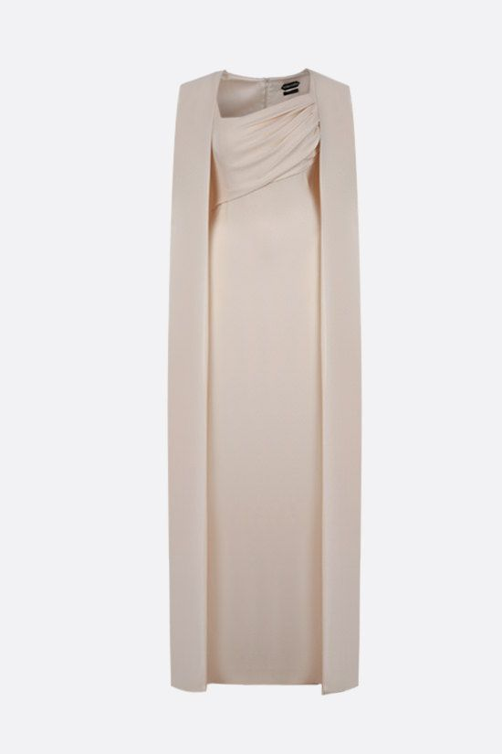 TOM FORD: silk crepe cape dress Color White_1