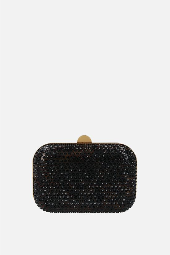 TOM FORD: crystal-embellished plexiglass clutch Color Brown_1