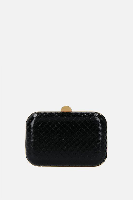 TOM FORD: anaconda skin clutch Color Black_1