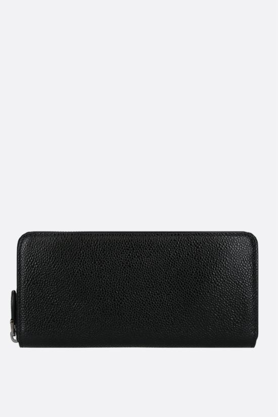 ALAIA: grainy leather zip-around wallet Color Black_1
