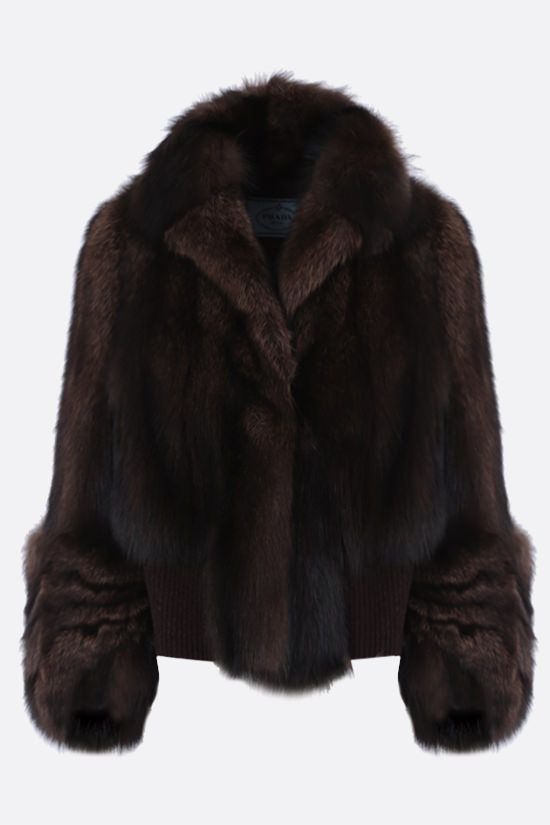 PRADA: pekan fur short jacket Color Brown_1