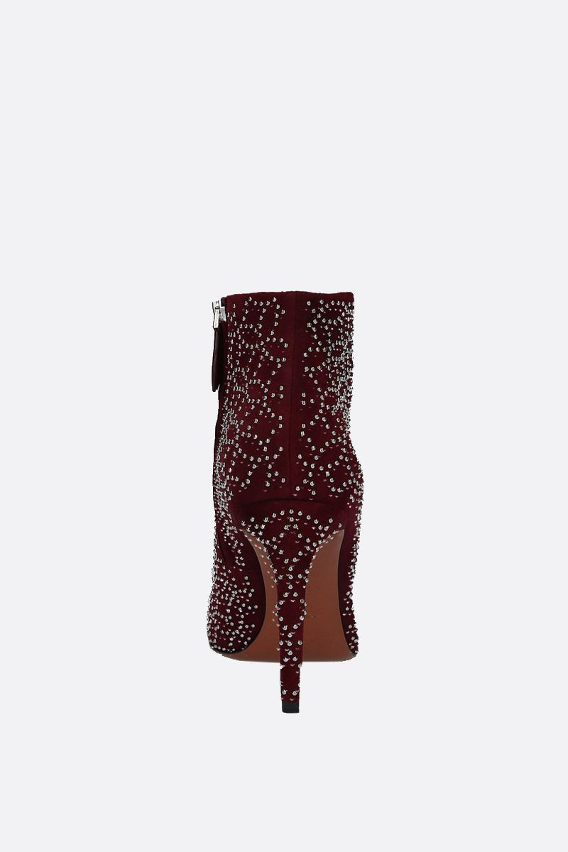 ALAIA: st� suede booties Color Red_3