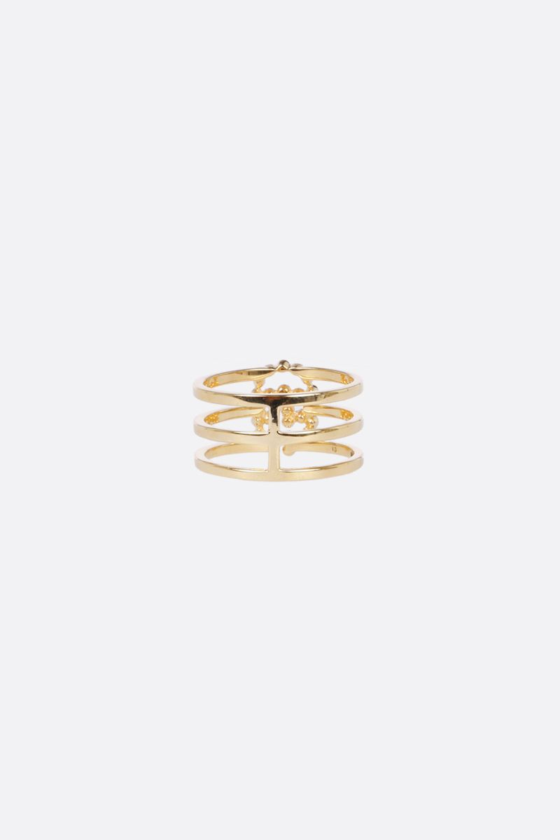 GUCCI: GG Running gold ring with diamonds Color Gold_2