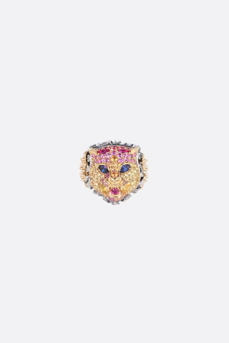 GUCCI: Le Marchè des Merveilles gold ring with sapphires and rubies Color Gold_1