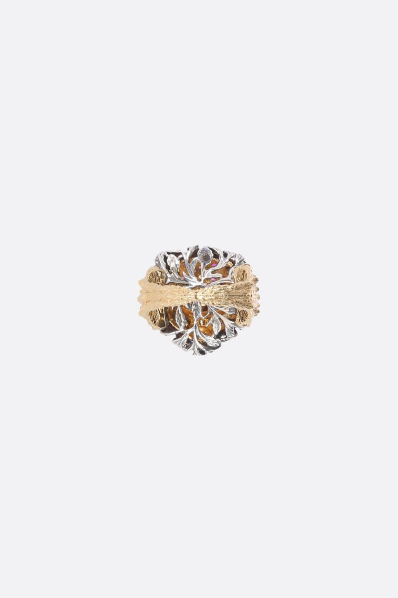 GUCCI: Le Marchè des Merveilles gold ring with sapphires and rubies Color Gold_3