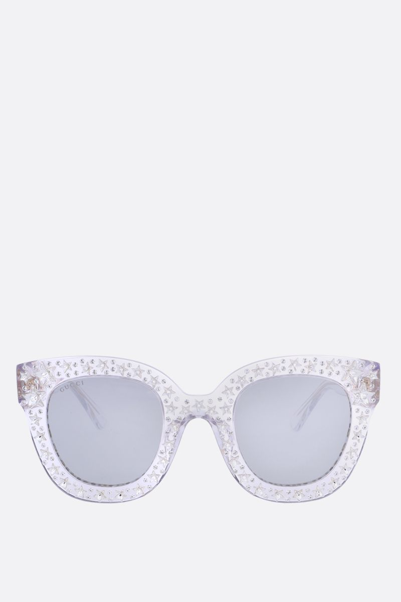 GUCCI: cat eye sunglasses with stars_1