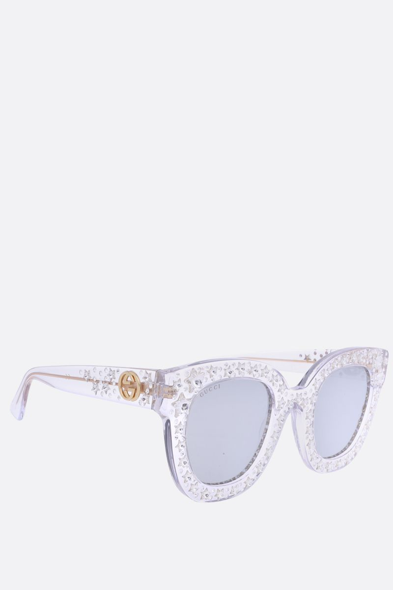 GUCCI: cat eye sunglasses with stars_2