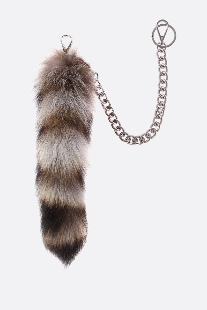 PRADA: Trick fur key holder Color Neutral_1
