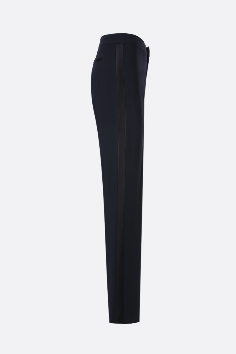 TOM FORD: texudo pants with satin bands Color Black_2