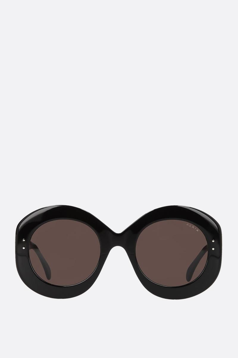 ALAIA: round frame acetate sunglasses Color Black_1