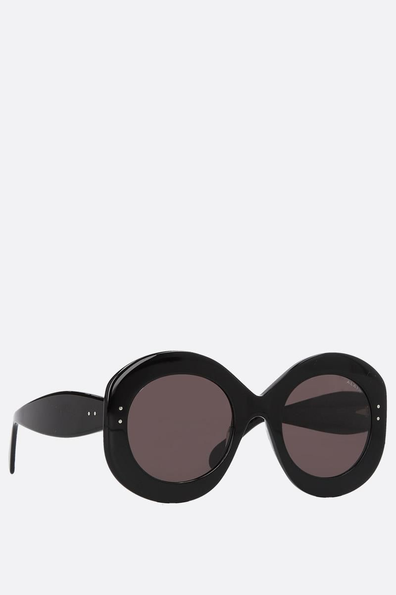 ALAIA: round frame acetate sunglasses Color Black_2