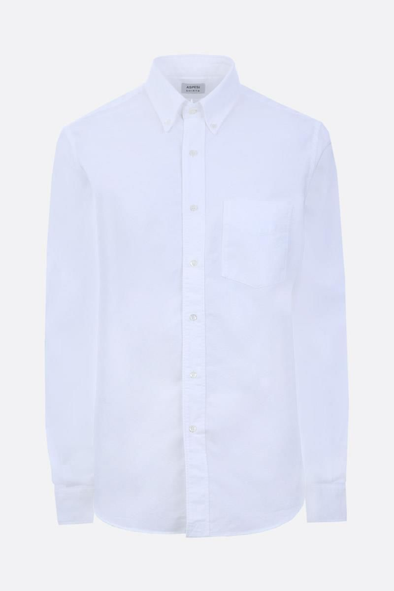 ASPESI: cotton oxford shirt Color White_1