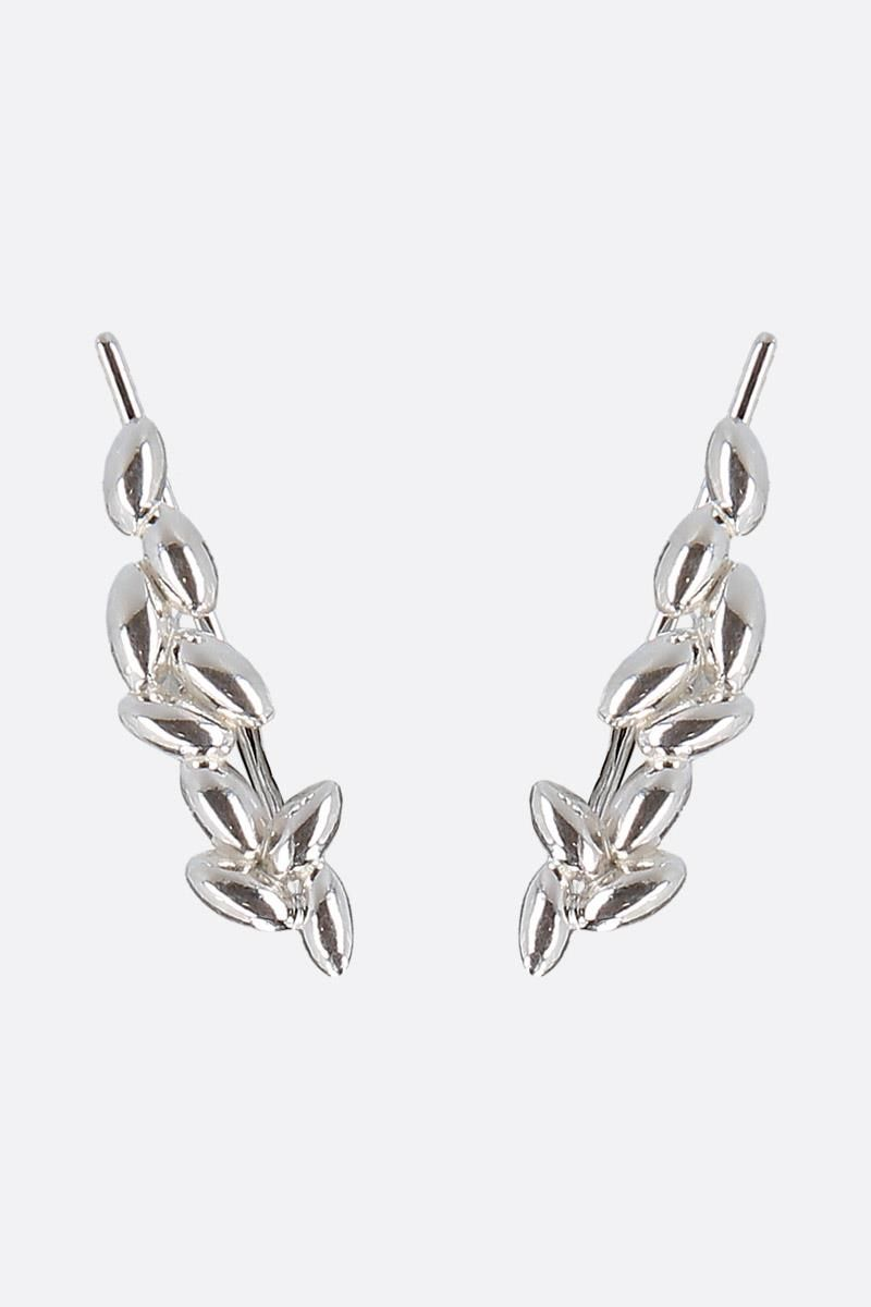 BEA BONGIASCA: Rice Grain silver earrings Color Silver_1