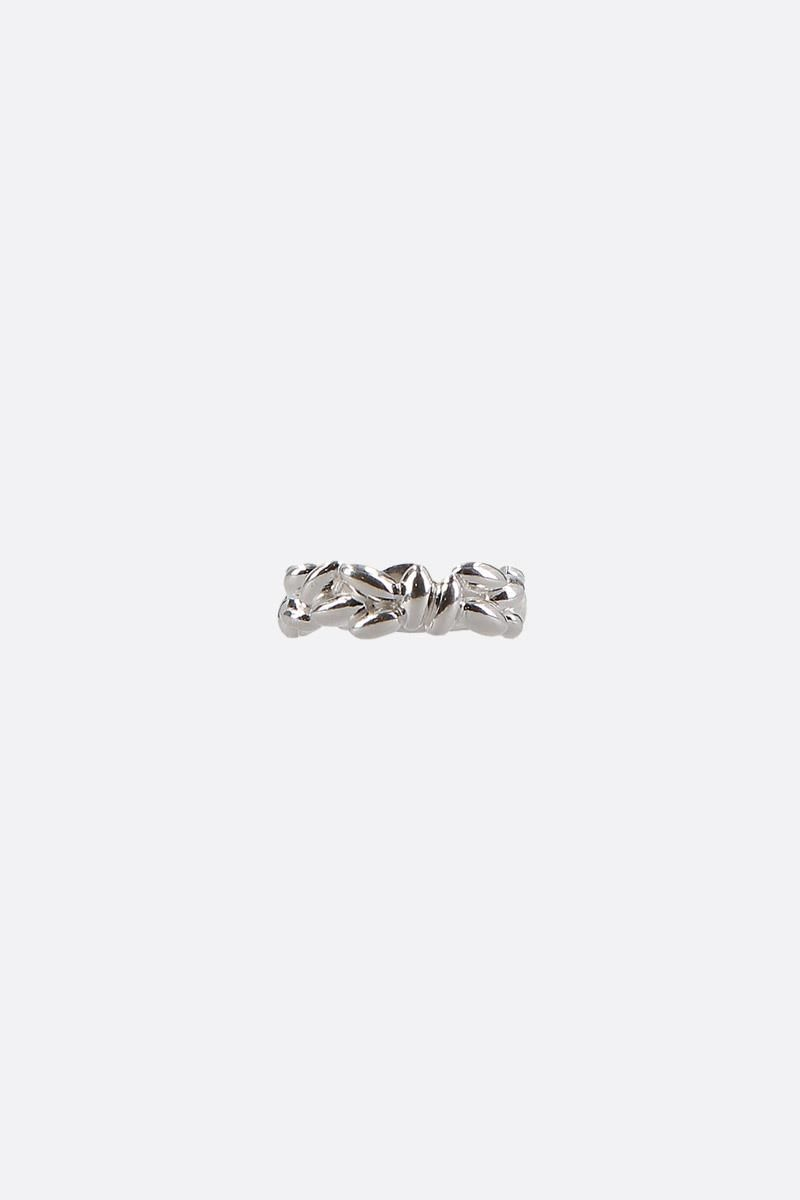 BEA BONGIASCA: Rice Pinky extra small silver ring Color Silver_1