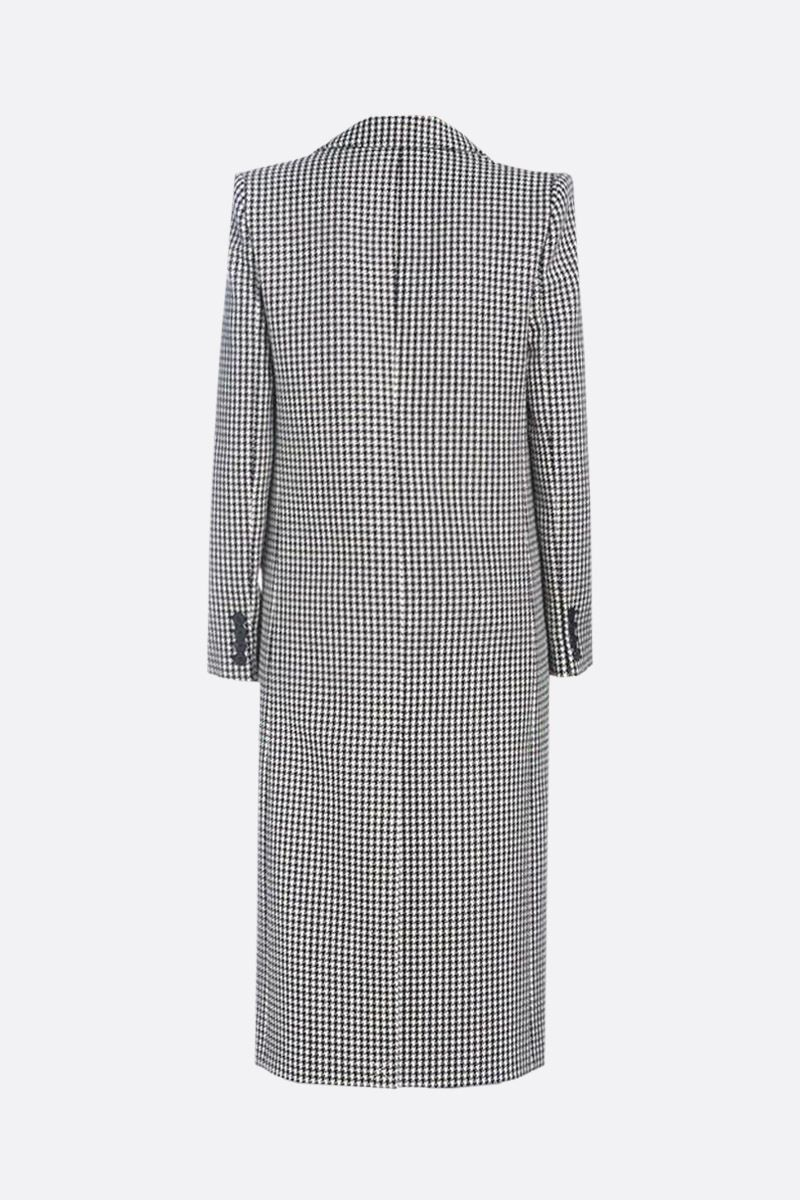 GIVENCHY: houndstooth wool single-breasted coat Color Black_2