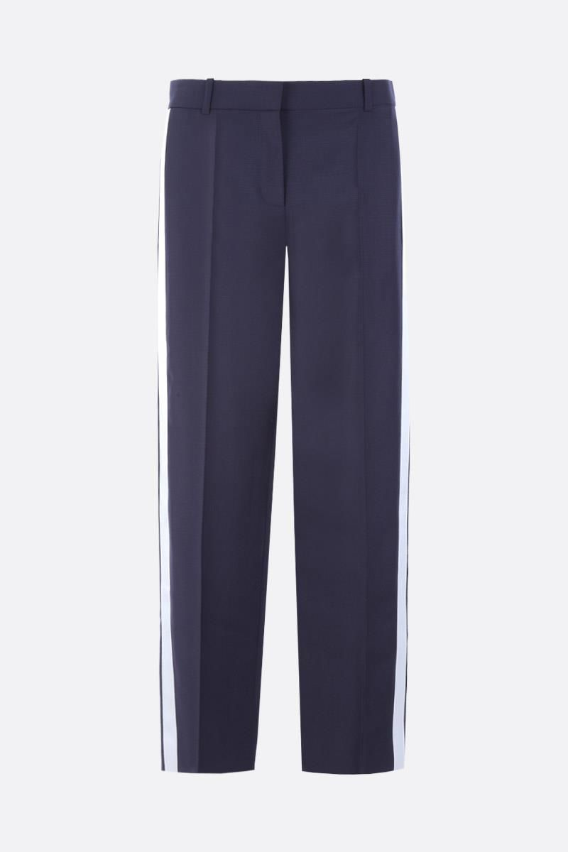 GIVENCHY: contrasting bands tuxedo pants Color White_1