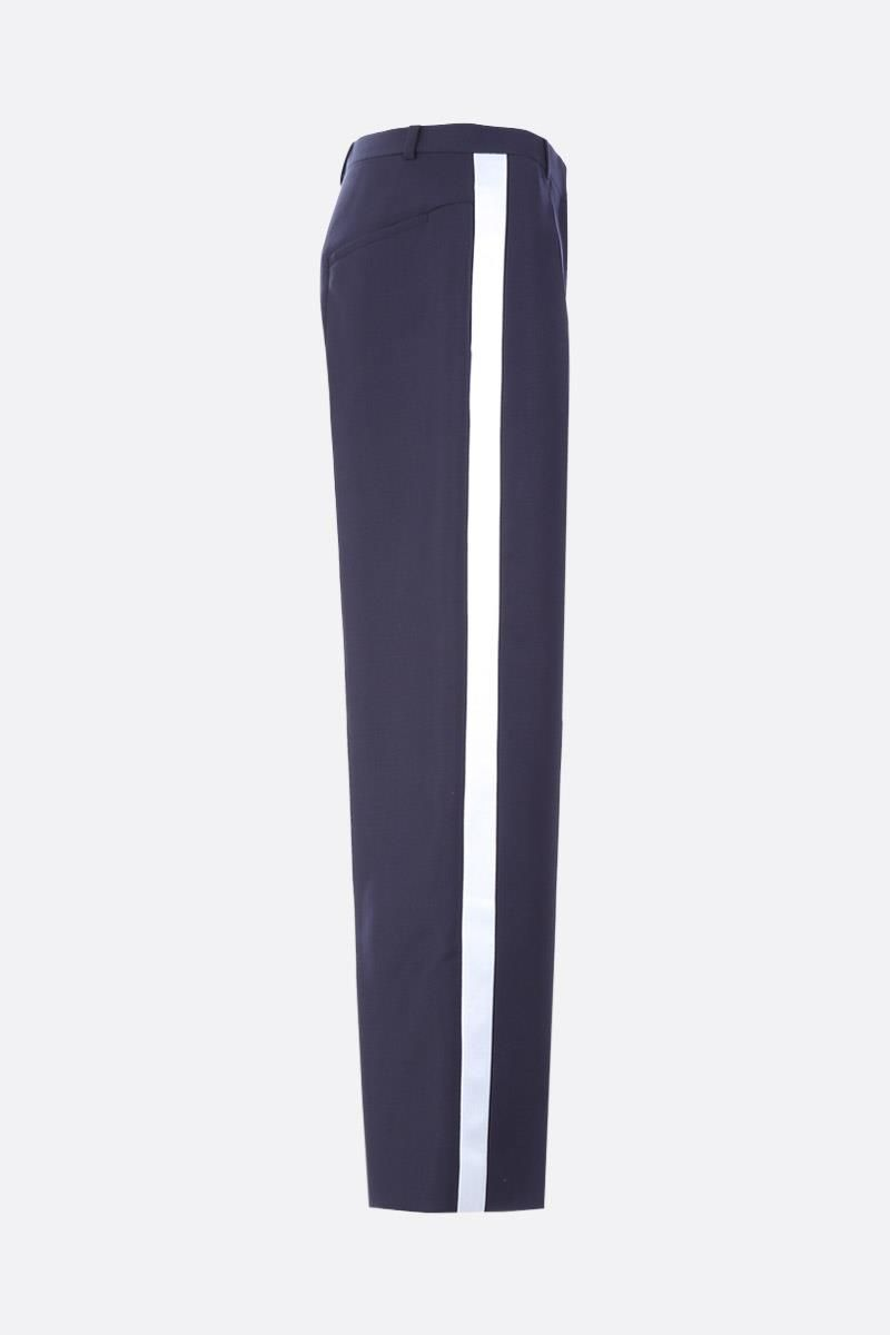 GIVENCHY: contrasting bands tuxedo pants Color White_2