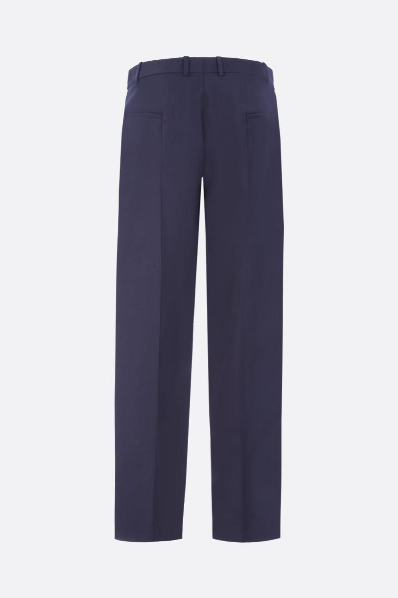 GIVENCHY: contrasting bands tuxedo pants Color White_3