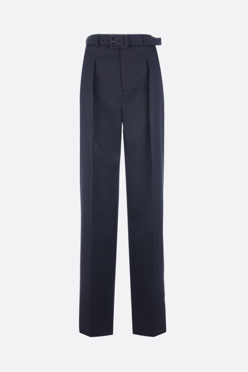 GIVENCHY: wool straight-leg pants Color Black_1