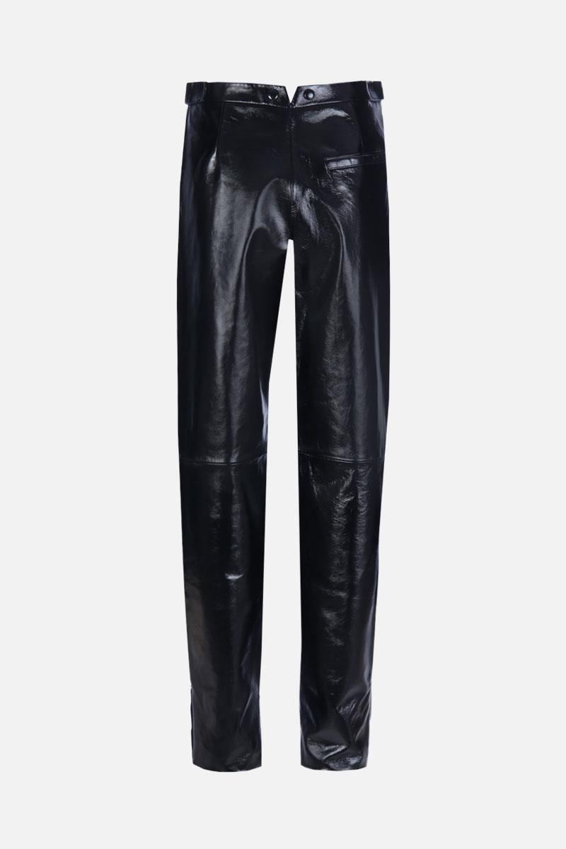 GIVENCHY: patent leather high-waist pants Color Black_2
