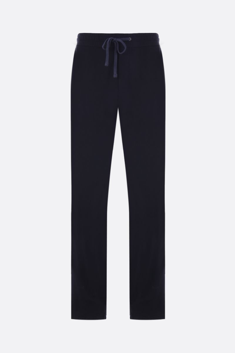 JAMES PERSE: pantalone jogging in jersey Colore Nero_1