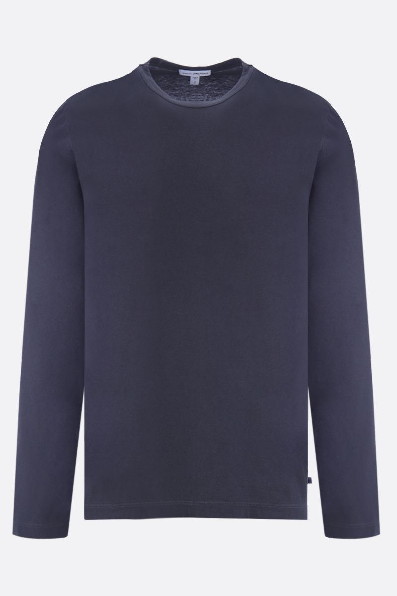 JAMES PERSE: long-sleeved cotton t-shirt Color Black_1
