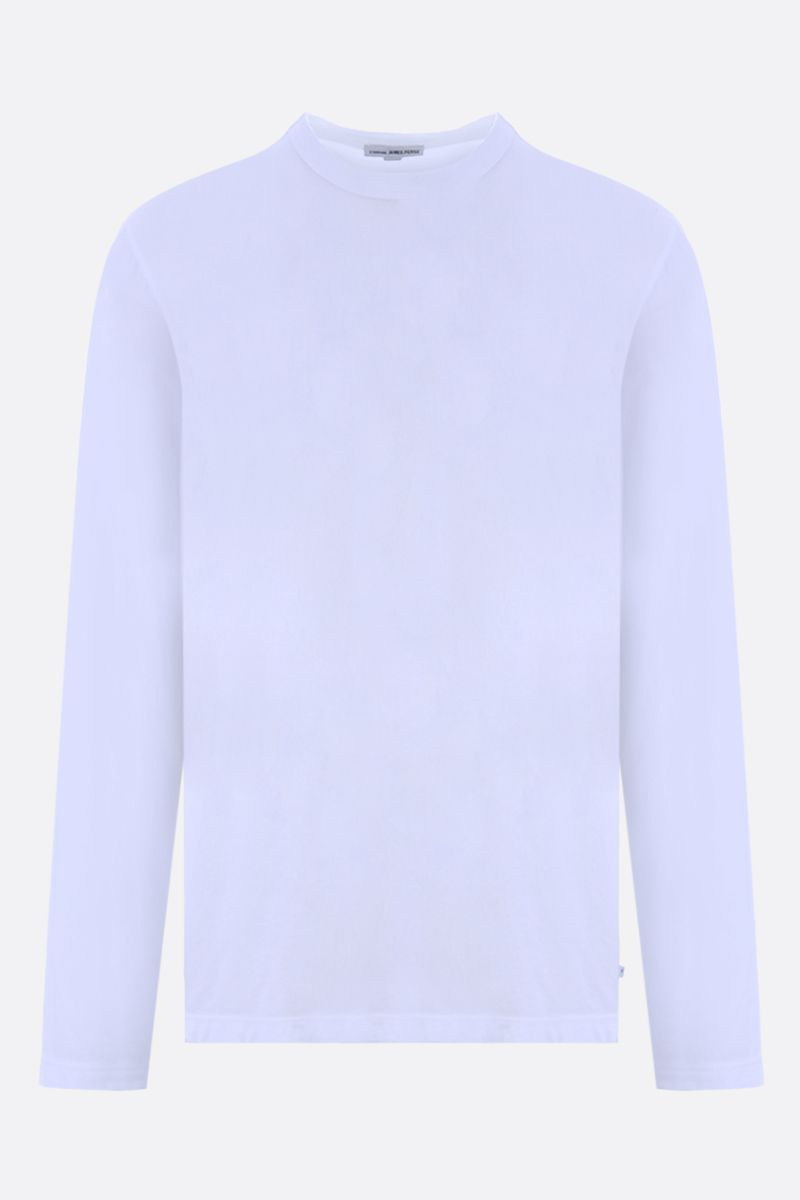 JAMES PERSE: long-sleeved cotton t-shirt Color White_1