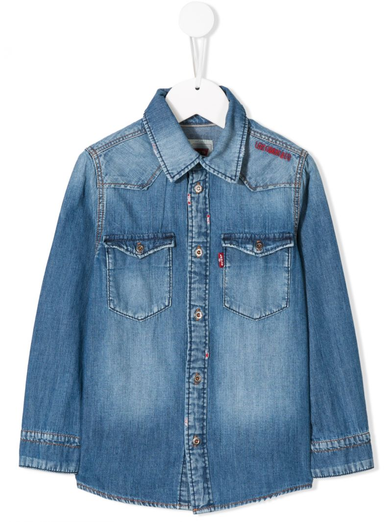 LEVI'S KIDS: Heavys denim shirt Color Blue_1