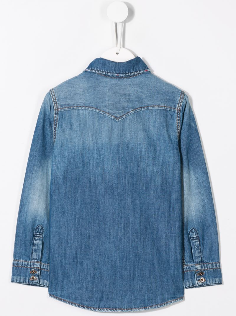 LEVI'S KIDS: Heavys denim shirt Color Blue_2