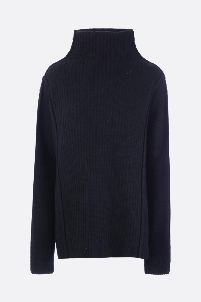 PAUL POIRET: Amadeo oversize wool and alpaca pullover Color Black_1