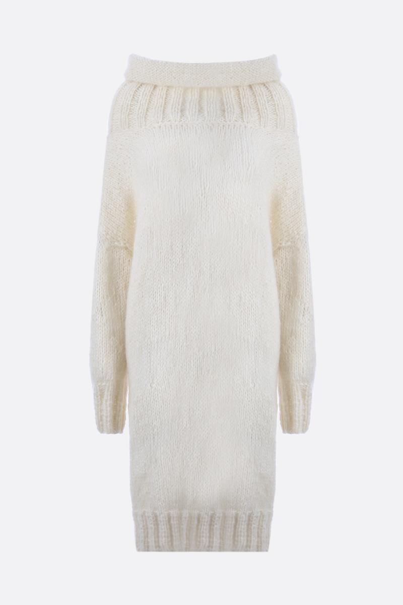 PAUL POIRET: oversize mohair and alpaca pullover Color White_1