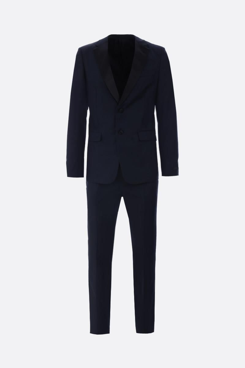 PRADA: lightweight wool tuxedo suit Color Blue_1