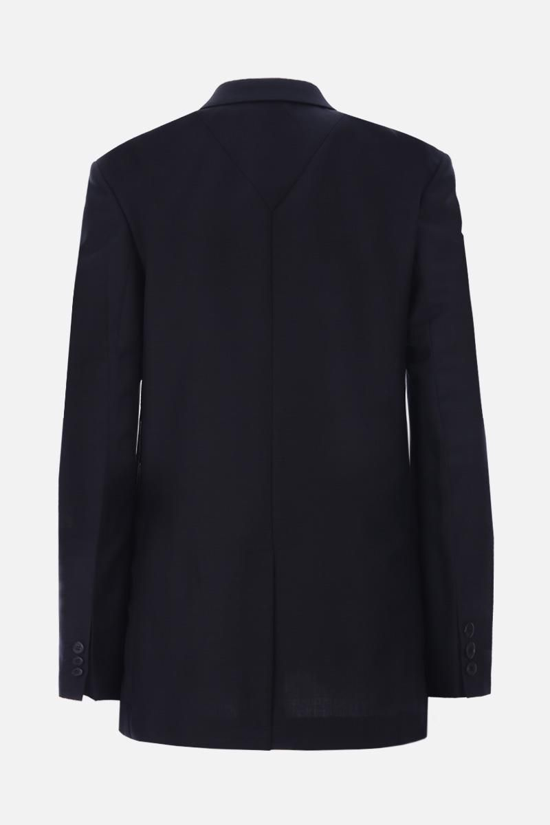 PRADA: double-breasted jacket in lightweight wool Color Black_3