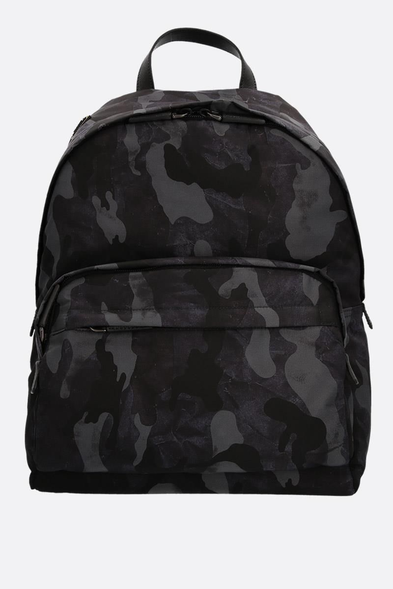 PRADA: camouflage print nylon backpack Color Blue_1