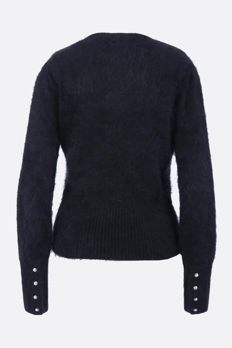 TOM FORD: angora blend pullover with crystal buttons Color Black_2