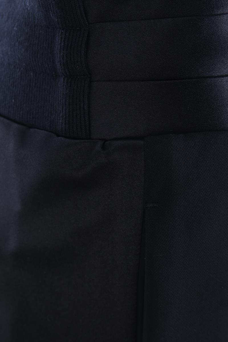 UNDERCOVER: sweat joggers with satin inserts Color Black_3