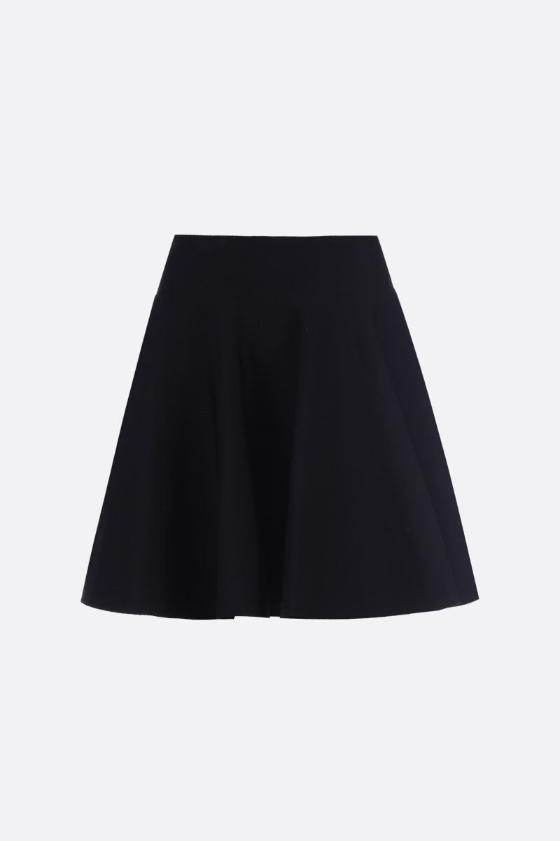 ALAIA: stretch knit cirle skirt Color Black_1