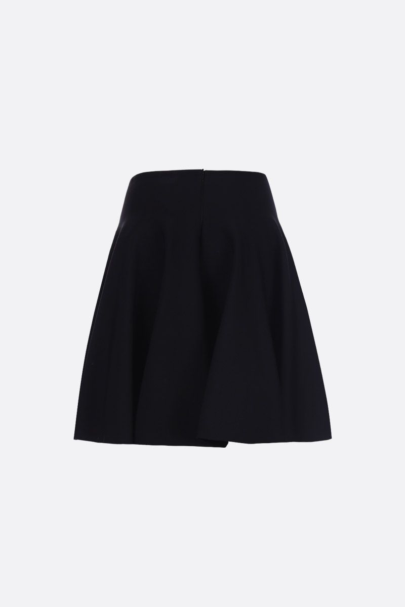 ALAIA: stretch knit cirle skirt Color Black_2