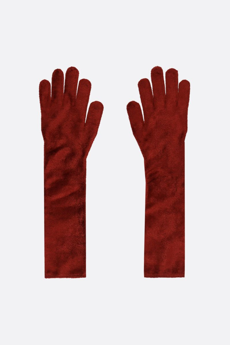 ALAIA: stretch chenille long gloves_1
