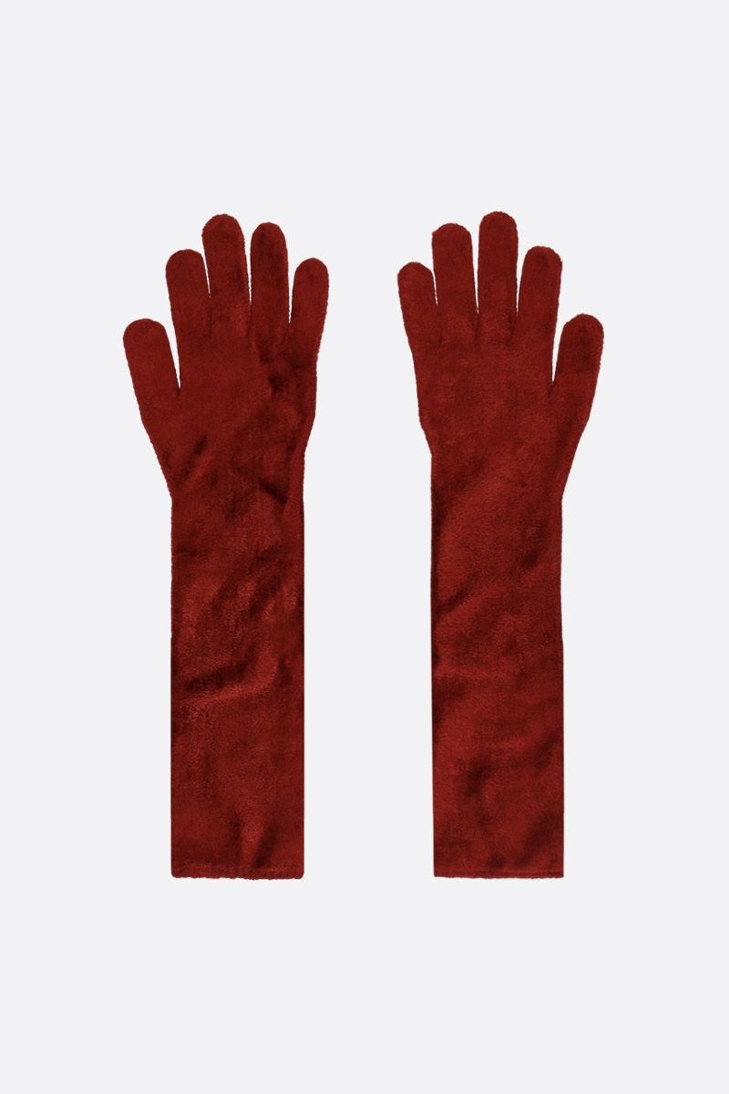 ALAIA: stretch chenille long gloves_2
