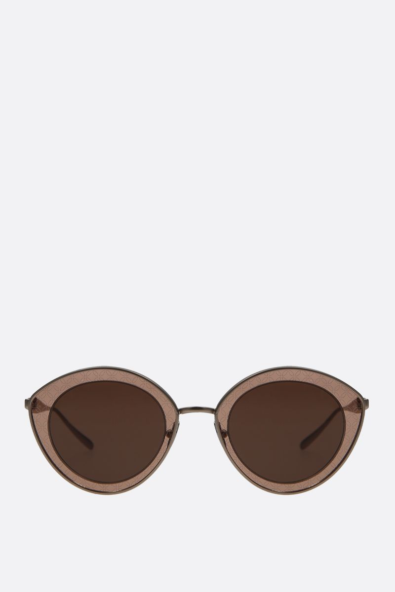 ALAIA: cat-eye metal sunglasses Color Gold_1