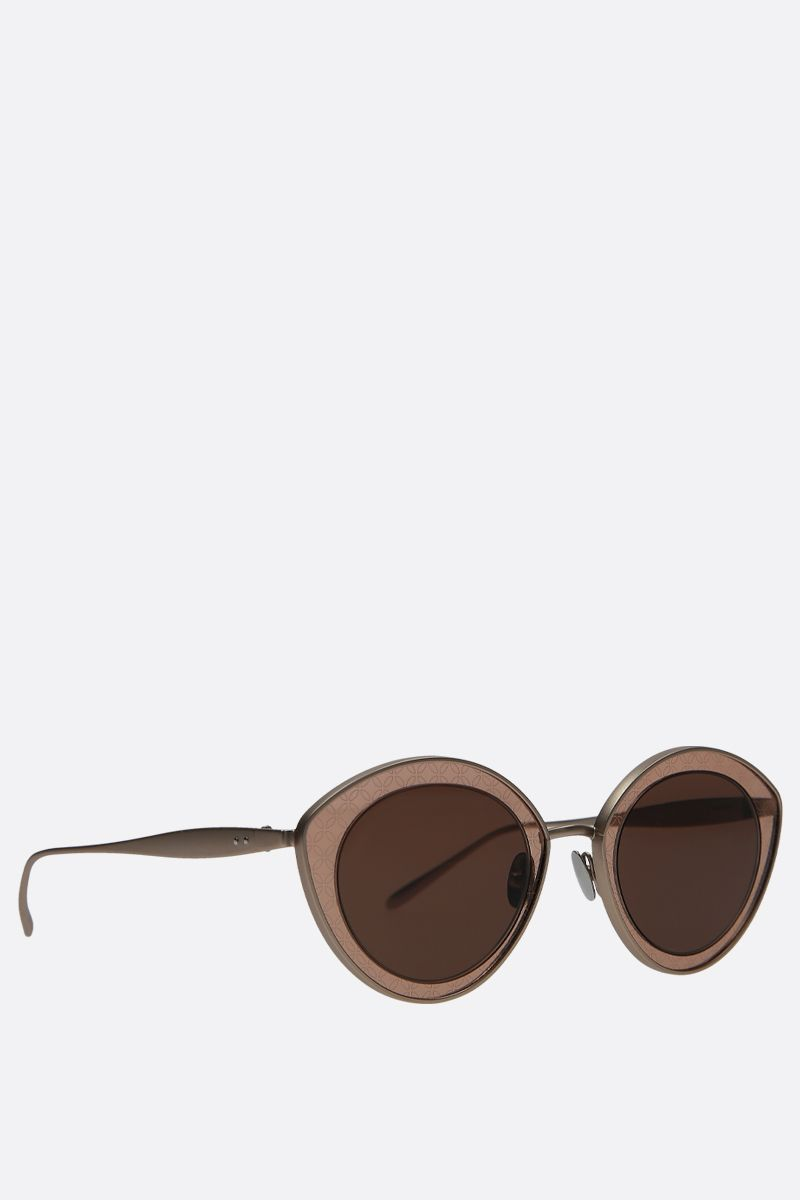 ALAIA: cat-eye metal sunglasses Color Gold_2