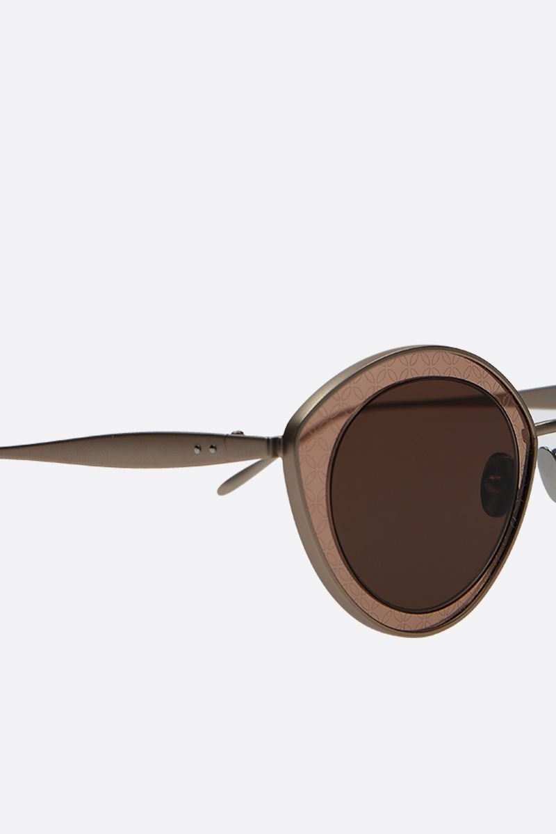ALAIA: cat-eye metal sunglasses Color Pink_3