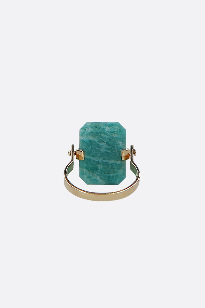 ALIITA: Sandwich yellow gold ring Color Gold_4