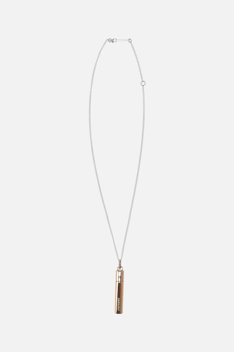 AMBUSH: sterling silver necklace with Pill Case pendant Color Brown_1